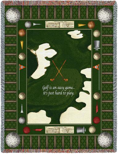 Golf Game Tapestry Throw, 53in x 70in