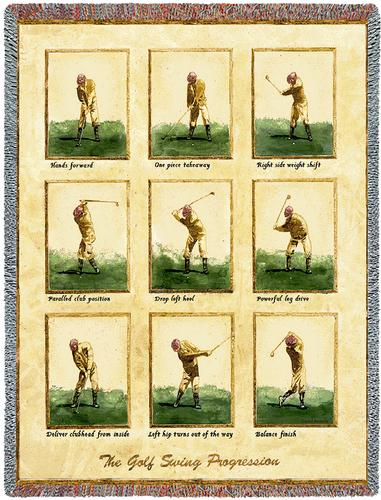 Golf Swing Tapestry Throw, 53in x 70in