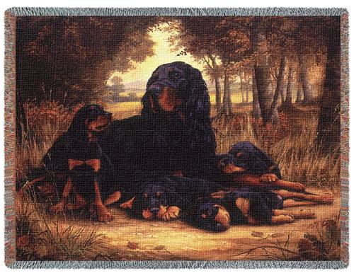 Gordon Setter Tapestry Throw, 70in x 53in