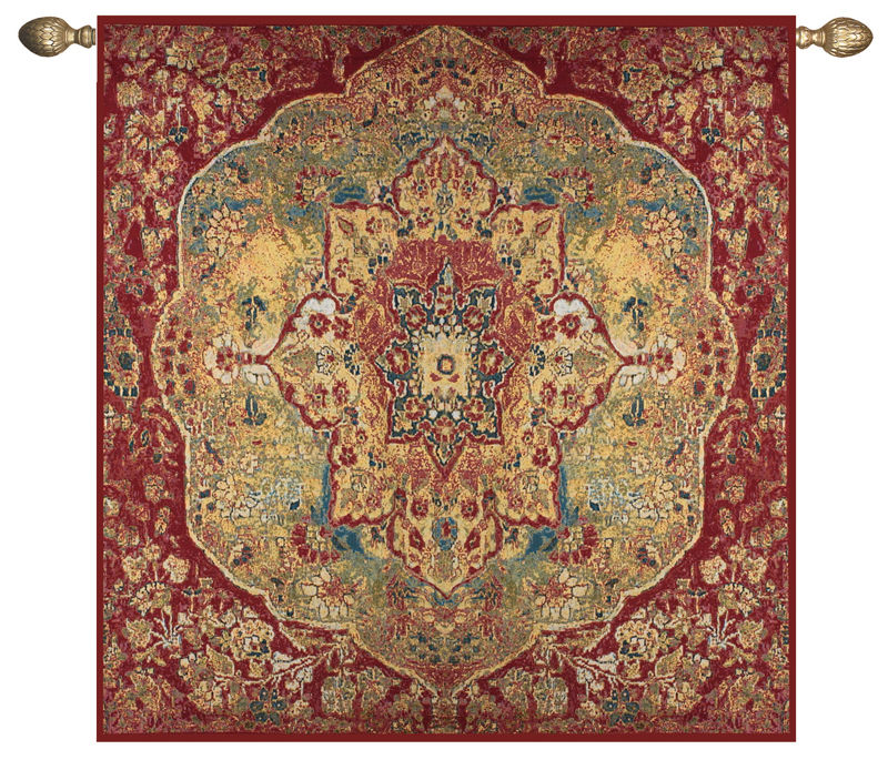 "Tapestry Wall Hanging grand bazaar oriental tapestry wall hanging, h70"" x w70"""
