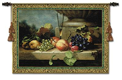 Grapes of Venice Still Life Wall Tapestry - Fruits Picture, 53in x 38in