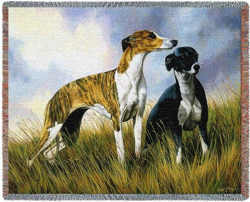 Greyhounds Tapestry Throw, 54in x 70in