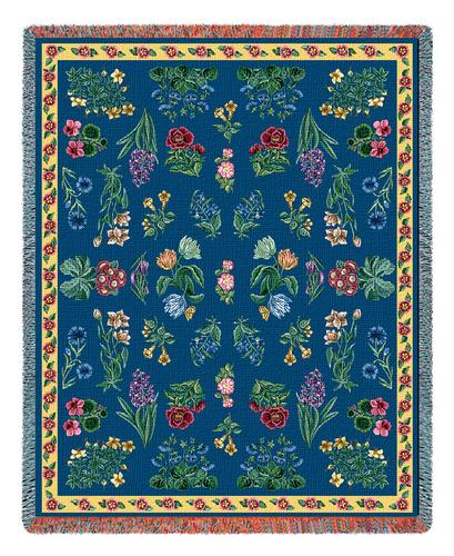 Greysons Floral Tapestry Throw, 53in x 70in