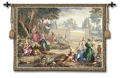 Harmony Renaissance Wall Tapestry - Classic Music Scene, 71in x 53in