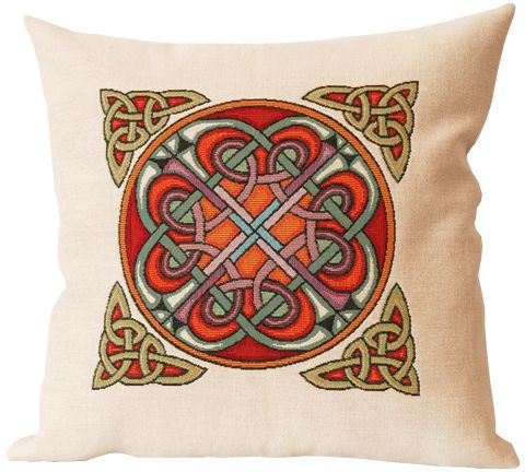 Hilton Celtic Design Tapestry Cushion Cover - European Home Decor Collection, 18in x 18in cushion cover