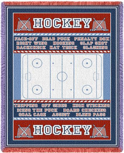 Hockey Field Tapestry Throw, 48in x 69in