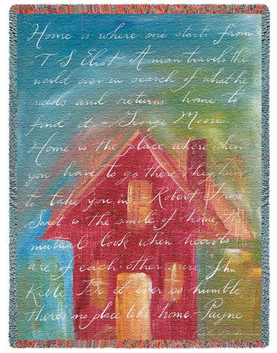 Home Tapestry Throw, 53in x 70in