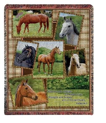 Horsing Around I Tapesty Throw, 50in x 60in