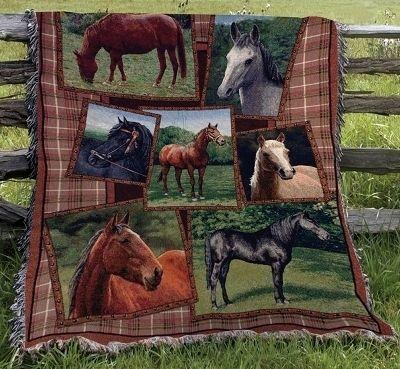 Horsing Around Tapesty Throw, 51in x 68in