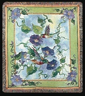 Hummingbird Haven Tapesty Throw, 50in x 60in
