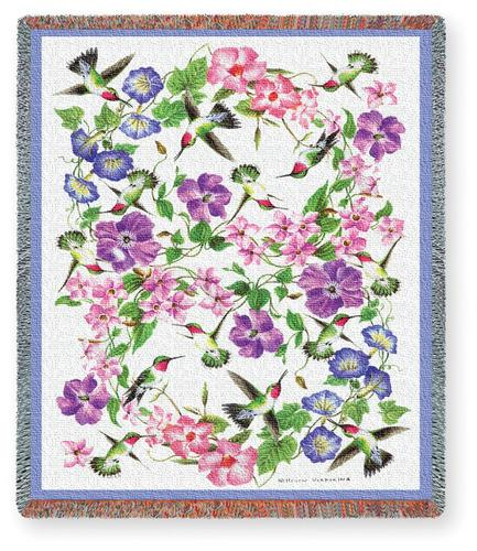 Hummingbirds Tapestry Throw, 54in x 70in