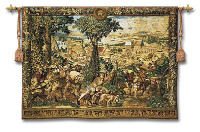 Hunt of Maximilian Renaissance Wall Tapestry - Hunting Scene, 54in x 40in