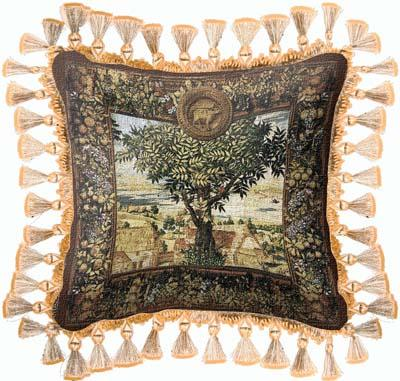 Hunts of Maximilian Classic Tapestry Cushion - Old World Styled, 27in x 27in