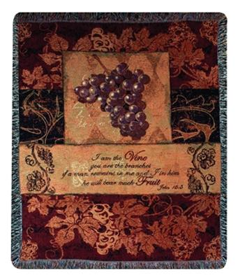 I Am the Vine Tapesty Throw, 50in x 60in