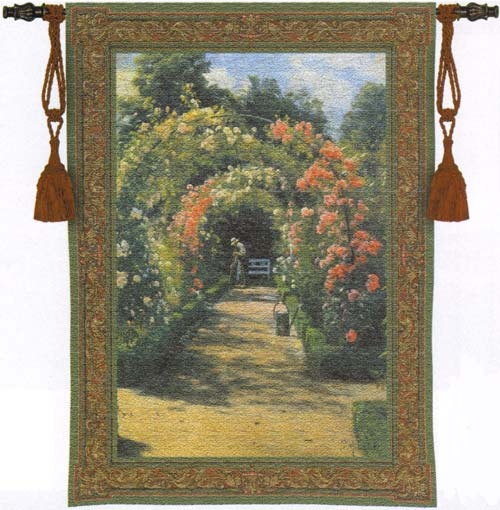 In The Garden Tapestry Wall Hanging, 53in x 76in
