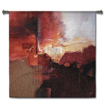 Inferno Contemporary Wall Tapestry - Abstract Design, 44in x 44in