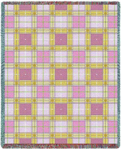 Innocent Plaid Tapestry Throw, 54in x 70in