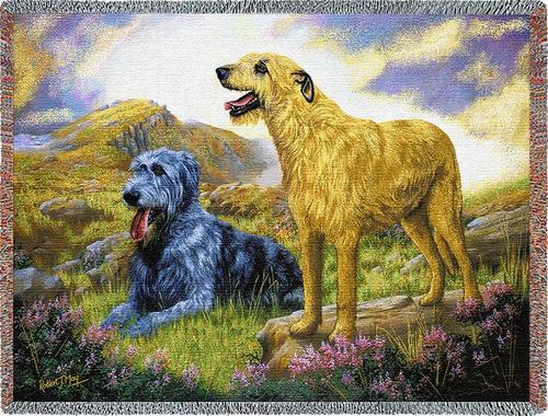 Irish Wolfhound Tapestry Throw, 54in x 70in