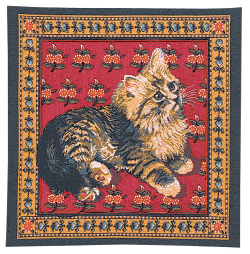 Ivory's Fluffy Cat Cushion Cover, 14in x 14in