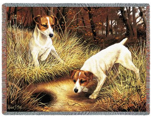 Jack Russell Tapestry Throw, 70in x 53in