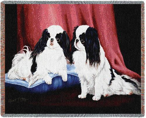 Japanese Chin Tapestry Throw, 70in x 54in