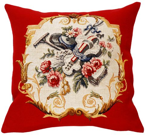 Jardinier Tapestry Cushion Cover - European Home Decor Collection, 18in x 18in cushion cover