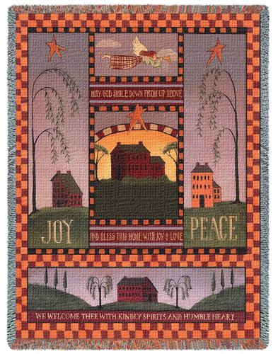 Joyful Home Tapestry Throw, 53in x 70in