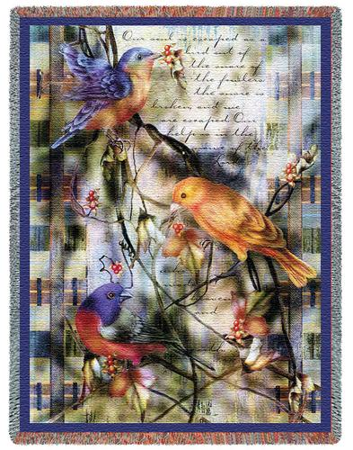 Joys Sanctuary Tapestry Throw, 54in x 70in