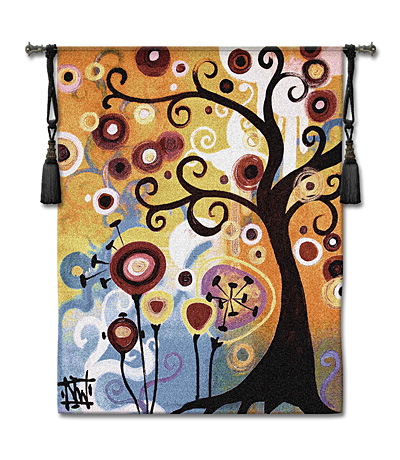 June Tree Modern Tapestry Fine Art Picture, 52in x 65in