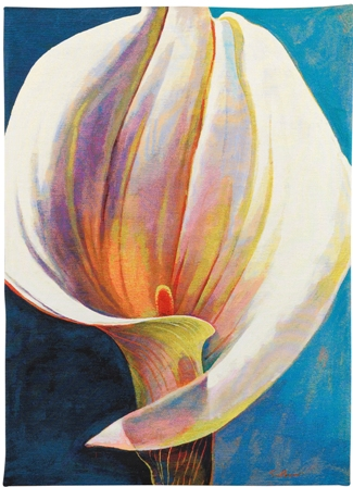 Just The Way You Are Contemporary Floral Tapestry - from the art work of Simon Bull, 51in x 37in