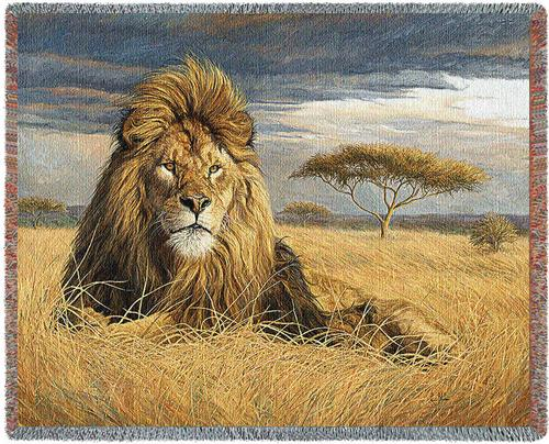 King of the Pride Tapestry Throw, 70in x 53in