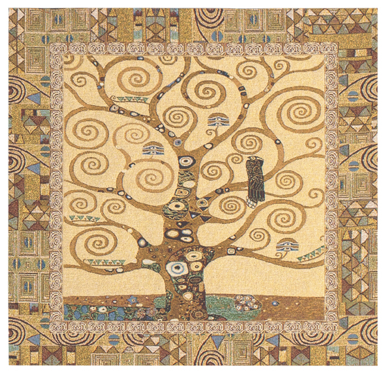 The Tree Of Life II by Gustav Klimt Tapestry Wall Hanging, 28in x 28in