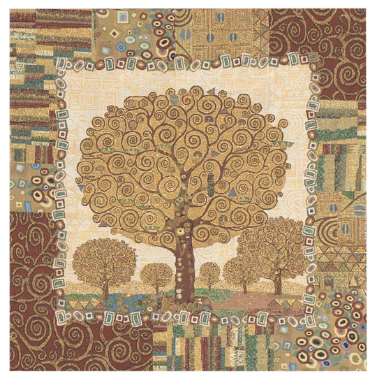 The Tree Of Life by Gustav Klimt Tapestry Wall Hanging, 28in x 28in