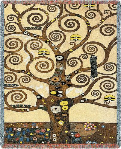 Klimt Tree of Life Tapestry Throw, 54in x 70in