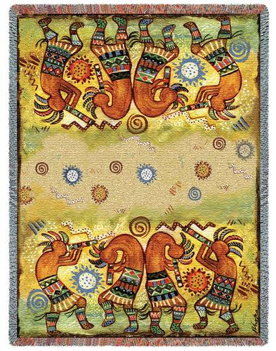 Southwest Quartet Tapestry Throw, 53in x 70in
