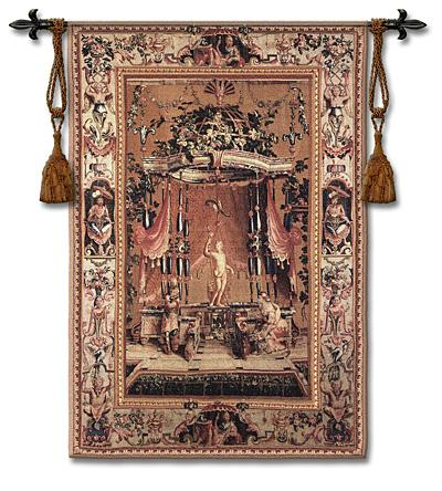 Offhanded a Bacchus Mythological Wall Tapestry - Antique Styled, 53in x 76in