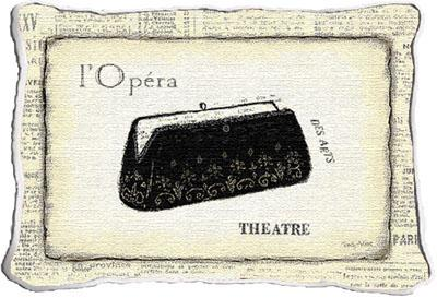 L'Opera Modern Tapestry Cushion - Fashion Design, 17in x 13in