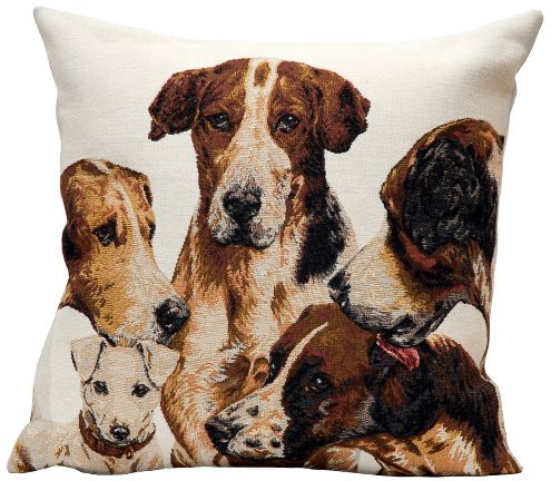 La Meute Tapestry Cushion Cover - Pets Home Decor Collection, 18in x 18in cushion cover