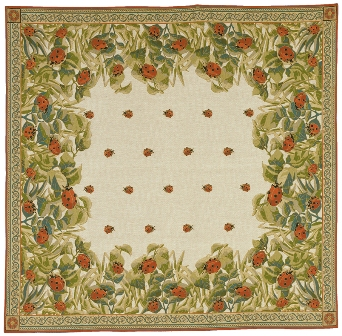 Ladybugs Tapestry Throw, 58in x 58in