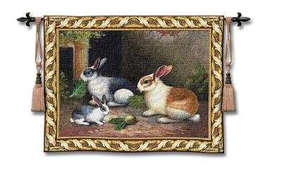 Lapin Wool/Cotton Tapestry Wall Hanging, 53in x 40in
