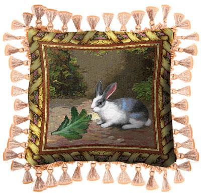 Lapin Lettuce Classic Tapestry Cushion - Animal Picture, 17in x 17in