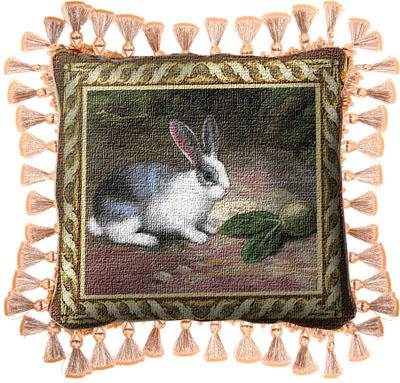 Lapin Classic Tapestry Cushion - Animal Picture, 17in x 17in