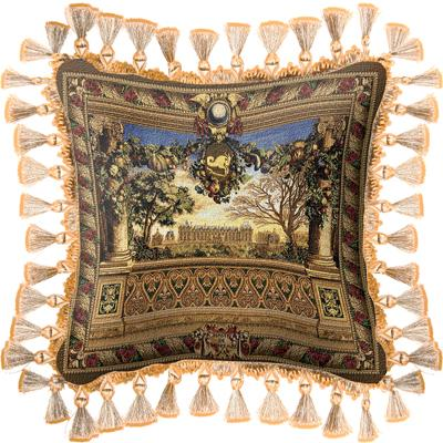 Le Chateau de Monc Classic Tapestry Cushion - Castle Scene, 27in x 27in