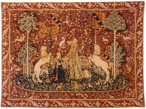 Le Gout  / The Taste Tapestry Wall Hanging - Medieval Unicorn Picture, 25in x 32in