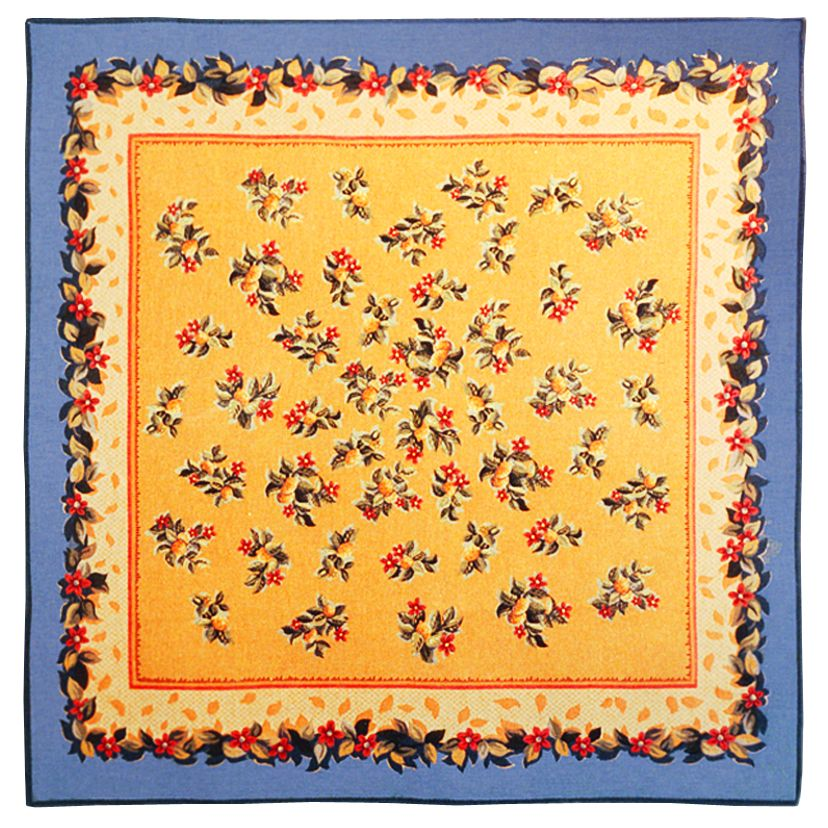 Lemon Abricot Tapestry Throw - European Home Decor Collection, 57in x 57in