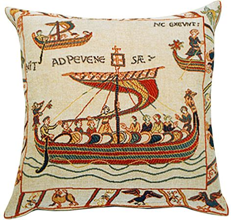 Les Normands Tapestry Cushion Cover - European Home Decor Collection, 18in x 18in cushion cover