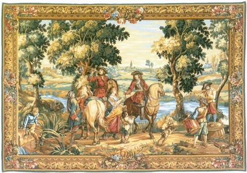 Les Sonneurs Du Roi - Les Tambours Medieval Wall Tapestry, 34in X 52in