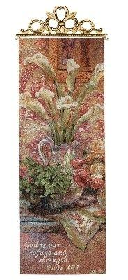 Les Fleurs D'Amour Floral Tapestry Wall Hanging, 13in X 36.5in