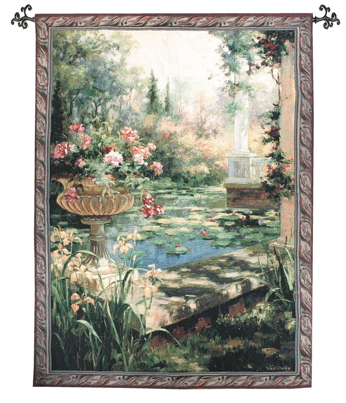Lily Garden Garden View Tapestry Wall Hanging, 53in X 35in