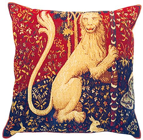 Cluny's Lion Tapestry Cushion Cover - European Home Decor Collection, 18in x 18in cushion cover
